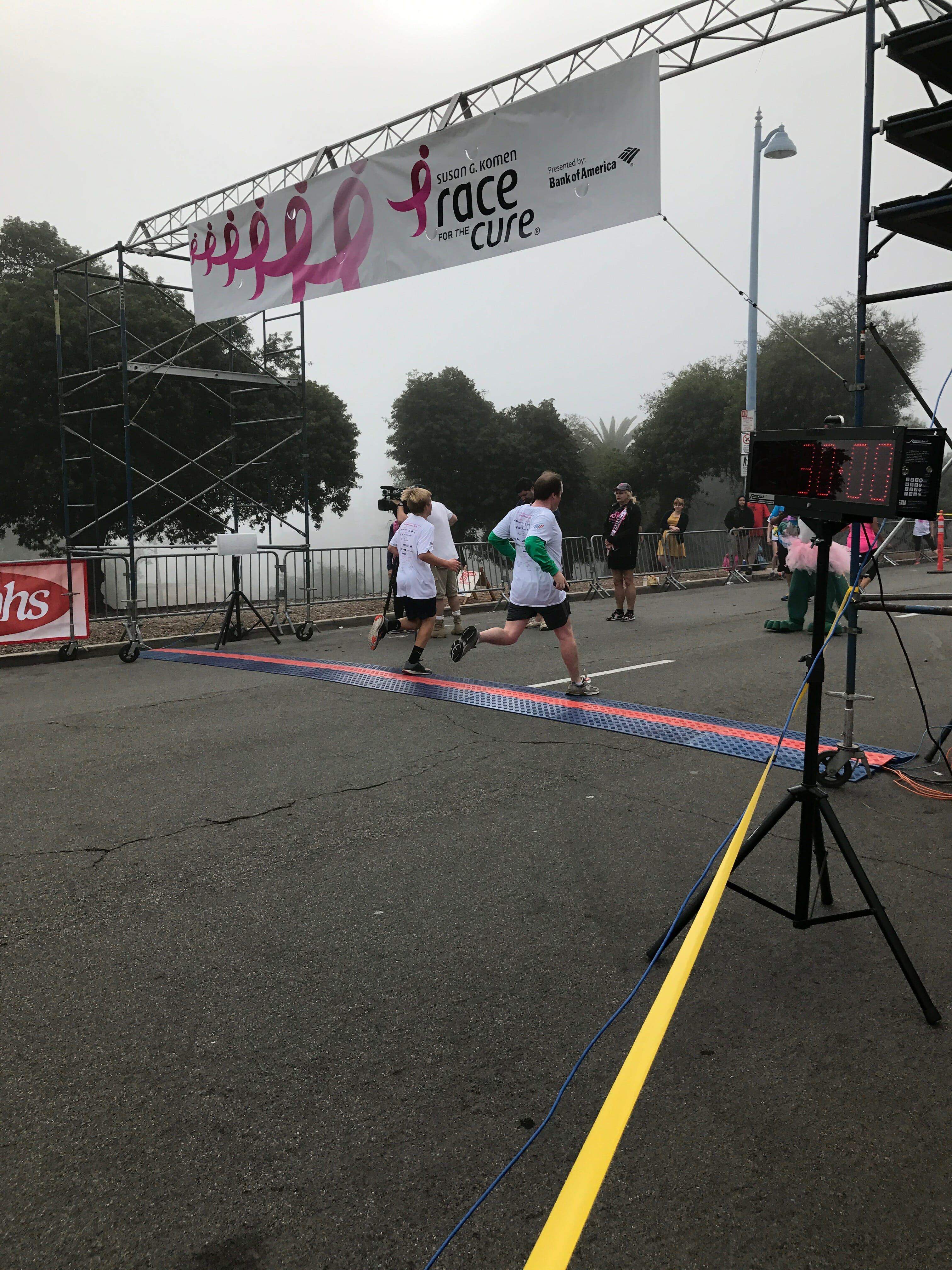 Patrick McKenna at the finish line.