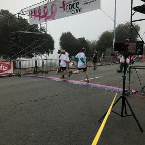 Patrick McKenna at the finish line.