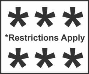 Restrictions Apply Fine Print Warning